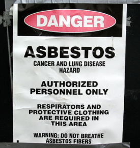 Experts recommend you hire a contractor with special asbestos removal training