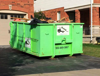 with a dumpster rental, you can get rid of your materials immediately