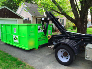 a roll off dumpster rental will fit in most driveways