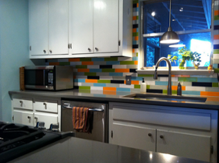 adding a kitchen backsplash is a great winter home improvement project